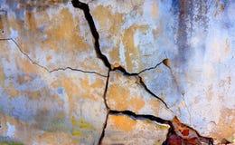 Barstende muur Royalty-vrije Stock Foto's