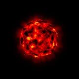 Barstende planeet vector illustratie