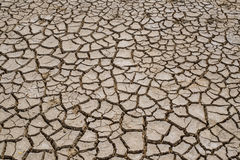 Barstgrond op droog seizoen, het Globale verwarmen/gebarsten droge modder/D royalty-vrije stock fotografie
