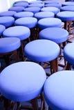 barstools μπλε Στοκ Φωτογραφίες