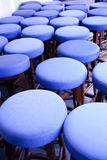 Barstools in blue Stock Photos