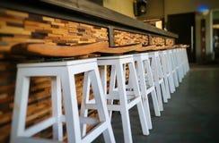 Barstools linje Royaltyfria Bilder