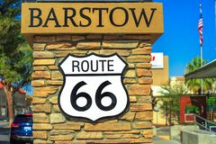 Barstow Route 66 royalty free stock image