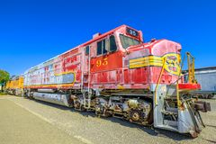 Santa Fe engine Barstow royalty free stock image