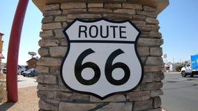 Barstow Route 66 tecken arkivfilmer