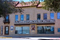 US armed forces recruiting station royalty free stock image