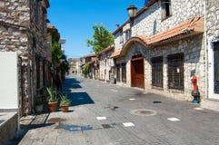 Barstreet in Marmaris van Turkije op de dag Royalty-vrije Stock Fotografie