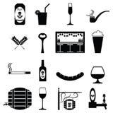 Barsymbolsuppsättning Arkivfoto