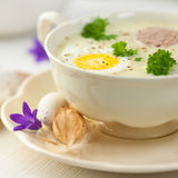 Barszcz Bia�y. Polish easter soup Stock Photos