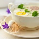 Barszcz Biały. Polish easter soup Stock Photos