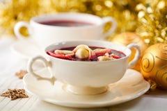 Barszcz. Polish Christmas Soup Stock Photo