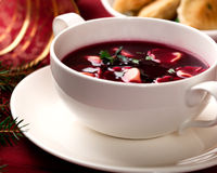 Barszcz. Polish christmas soup Royalty Free Stock Photo