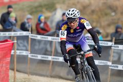 Bart Bowen - Masters Cyclocross Racer Royalty Free Stock Photo