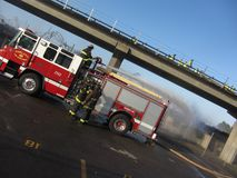 BART Fire. Shuts down the morning commute in the Bay Area Stock Photos