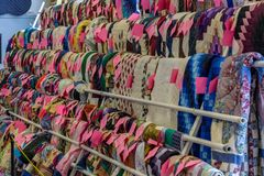 Quilts for sale. Bart, PA, USA - March 3, 2018: Quilts are just one the many items being sold at the annual Mud Sale at the Bart Fire Company Royalty Free Stock Image