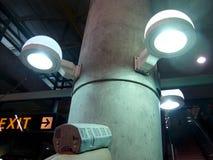 BART pociągu model na pokazie wśrodku bart Millbrae stacji zdjęcie royalty free