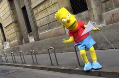 Bart Simpson de tamaño natural imagen de archivo libre de regalías