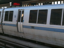 BART Train pulls into station Royalty Free Stock Photo