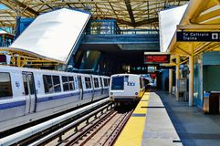 BART Train Ready To Depart Royalty Free Stock Photo
