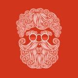 Bart und Schnurrbart von Santa Claus vektor abbildung