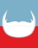 Bart und Schnurrbart Weihnachts-Santa Claus-Attribute lizenzfreie abbildung