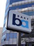 BART znaka ocen stacja w Oakland, Kalifornia Obrazy Royalty Free
