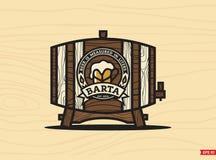 Barta profissional da cerveja do emblema do logotipo do vetor moderno Foto de Stock