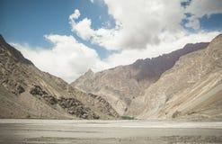 Bartang dal och scenary Pamir berg, Tadzjikistan Arkivbilder