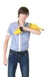 Bartender κάνει ένα τέχνασμα με έναν δονητή στοκ εικόνες με δικαίωμα ελεύθερης χρήσης
