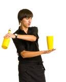 bartender το μπουκάλι κάνει το τέχ&n στοκ εικόνες με δικαίωμα ελεύθερης χρήσης