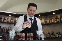 bartender arkivfoto