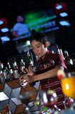 Bartender in action Royalty Free Stock Images
