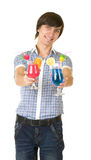 Bartender with alcohol cocktail drink Royalty Free Stock Photo
