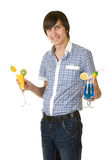 Bartender with alcohol cocktail drink Stock Photos