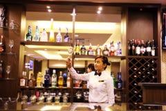 Bartender At Bar Royalty Free Stock Images