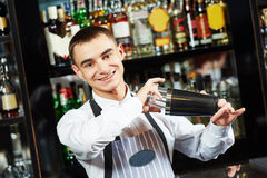 Bartender at bar Stock Photo