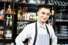 Bartender at bar Stock Photos