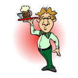 Bartender Cartoon 01 Stock Photos