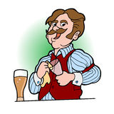 Bartender Cartoon 02. Bartender Cartoon for Posters, Literature, advertising, etc Royalty Free Stock Image