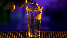 Bartender continue making, pouring cocktail with stock video footage