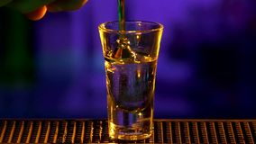 Bartender continue making, pouring cocktail, shots stock footage
