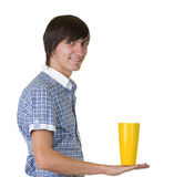 Bartender does a trick with a shaker Royalty Free Stock Images