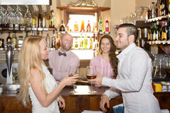 Bartender entertaining guests Stock Image