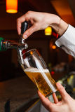 The bartender hand Stock Photos