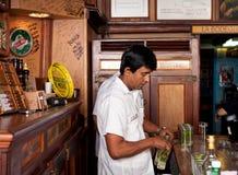 Bartender in La Bodeguita del Medio Royalty Free Stock Image