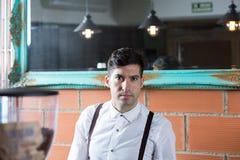 Bartender looking at camera Royalty Free Stock Image