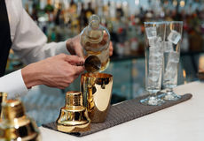 Bartender is making a cocktail Stock Image
