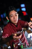 Bartender making drink Stock Photo