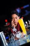Bartender Making Drink Stock Photo