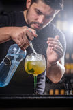 Bartender is pouring soda water Royalty Free Stock Images